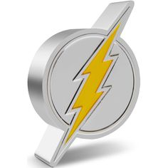 This 1oz pure silver coin celebrates the Scarlet Speedster, THE FLASH™. The coin has been shaped and engraved with a bolt of lightning, the emblem for THE FLASH™. This has been defined with yellow enamel to make it pop, while the mirror finish on the shield ensures it shines in the light! Lightning Bolt, Buick Logo, The Flash, Silver Coins, Scarlet, Enamel, Pop, Mirror, Yellow