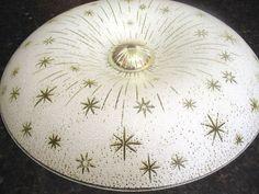 Vtg 50s 60s Mid Century Modern Ceiling Lamp Light Fixture Eames ...