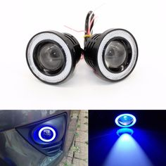 ==> [Free Shipping] Buy Best 3.5 inch Car Universal COB LED Angel Eyes Light Fog Lamp W/ Lens Auto DRL Driving Light Daytime Running Lights Blue 30W 1200LM Online with LOWEST Price | 32791369318