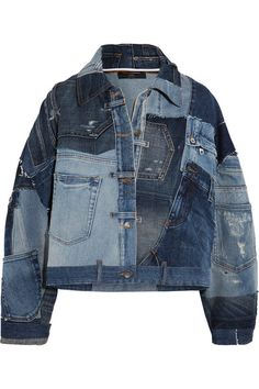 Dolce   Gabbana - Distressed patchwork denim jacket 188bcb2b080