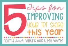 Five Tips for Improving Your TPT Store This Year