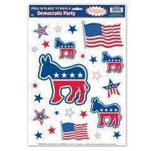 Democratic Party Peel 'N Place Case Pack 96 Made in USA $227.00