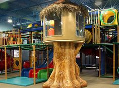Recreation - YMCA ~ Indoor Playground ~ Play Structures for all ages. See our many boards of different types of play structures for your business. we do it all at Iplayco Indoor Play Equipment, Commercial Playground Equipment, Toddler Playground, Outdoor Playground, Outdoor Play Structures, Playground Design, Playground Ideas, Play Houses, Kids Playing