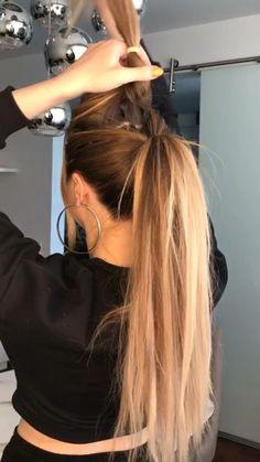 Work Hairstyles, Easy Hairstyles For Long Hair, Pretty Hairstyles, Beach Hairstyles, Ponytail Hairstyles, Hairdos, Updos, Hair Up Styles, Medium Hair Styles