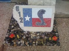Mosaic address marker. Email me if you want one at helene.vachon@gmail.com