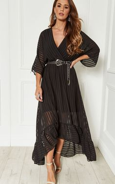 1e46703a2d9e Black Plunge Maxi Dress | Lilah Rose | SilkFred Dresses Uk, Dress Outfits,  Formal