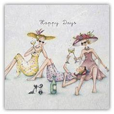 Happy Days Berni Parker Designs Card. £2.75 - FREE Postage!