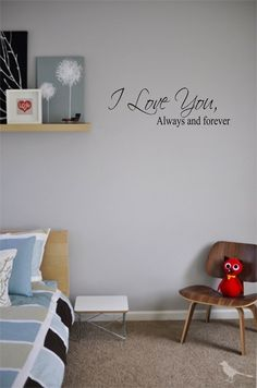 Wall Art I love you home decor vinyl stickers family art letters quotes bedroom decals. $8.99, via Etsy.