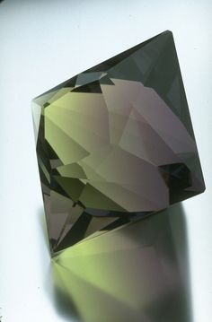Fluorite octahedron from the National Gem Collection.