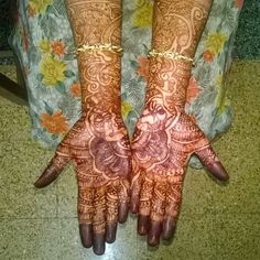 #Mahendi @, #My sister's #wedding
