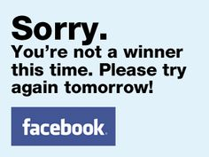 Not winning on Facebook? | The Prize Finder