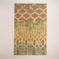One of my favorite discoveries at WorldMarket.com: 5'x8' Moroccan Tile Jute Area Rug