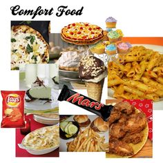 "Question:Ever wonder why they call it ""comfort food"", created by huggybear20 on Polyvore"