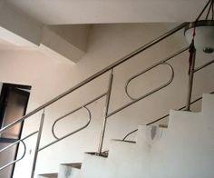 Scara interioara cu balustrada model Bistrita Balustrade Inox, Balustrades, Romania, Track Lighting, Stairs, Ceiling Lights, Home Decor, Ladders, Homemade Home Decor