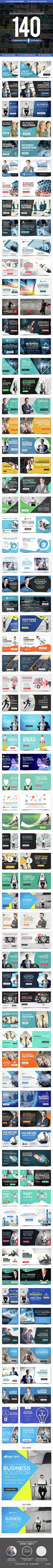 Facebook Ad Banners - 140 Banners - Social Media Web Elements