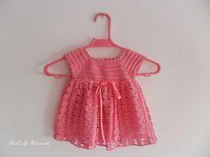 Baby Crochet Dress - 12 mounth
