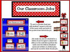 Classroom Leaders Job Cards