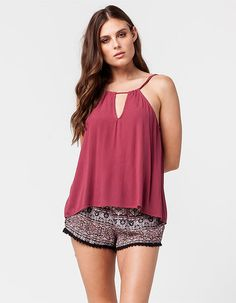 FULL TILT Linear Medallion Womens Wrap Shorts