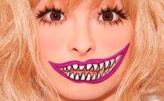 Halloween cool and creepy smile makeup
