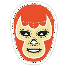 'Vintage Lucha Libre Mask T-Shirt by EmilioPereiro Mexican Christmas Decorations, Wrestling Posters, Cactus Craft, Mask Drawing, Mexican Crafts, Record Art, Ocean Art, Felt Art, Felt Crafts
