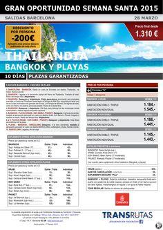 THAiLANDiA y Playas / 10 días ¡¡Gran oportunidad S. Santa: 28 marzo - Descuento -200€!! Barcelona ultimo minuto - http://zocotours.com/thailandia-y-playas-10-dias-gran-oportunidad-s-santa-28-marzo-descuento-200e-barcelona-ultimo-minuto/