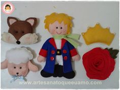 Artesanato que eu amo: Kit Pequeno Príncipe de feltro com molde - # 1 Pro...