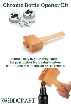 Limited only by your imagination, the possibilities for creating custom bottle openers with this kit are boundless. It is easy and fun to mix materials to create different designs and shapes. Kit comes with two bottle openers and fasteners.