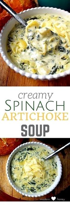 Low Carb Meals keto soup creamy spinach artichoke soup - Nothing better than soup in winter to keep you warm inside. If you're on the ketogenic diet, these low carb keto soup recipes will be your salvation. Healthy Diet Recipes, Healthy Soup Recipes, Vegetarian Recipes, Simple Soup Recipes, Cheap Recipes, Recipes For Soup, Canned Spinach Recipes, Canned Artichoke Recipes, Amazing Food Recipes