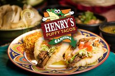 Welcome to Henry's Puffy Tacos- home of the original Puffy Tacos in San Antonio! Family owned and operated since 1978, Henry's Puffy Tacos prides itself in using family recipes and the freshest ingredients for a truly homemade taste. Our delicious Puffy Tacos and their history, along with our beloved Puffy Taco mascot, have put us..