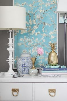Modern Chinoiserie Chic Bedroom via Bliss at Home