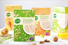 Packaging of the World is a package design inspiration archive showcasing the best, most interesting and creative work worldwide. Cereal Packaging, Cool Packaging, Food Packaging Design, Packaging Design Inspiration, Packaging Ideas, Granola, Organic Packaging, Benefits Of Organic Food, Food Design