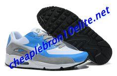 White and Grey Nike Air Max 90 Mens Blue 542051 111 Air Max Sneakers, Sneakers Nike, Nike Air Max Mens, Grey Nikes, Air Max 90, Running Shoes, Blue, Fashion, Nike Tennis Shoes