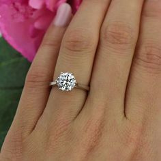 2 ct Low Profile Solitaire Ring