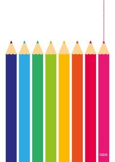 Colouring Pencils Print | Showler & Showler