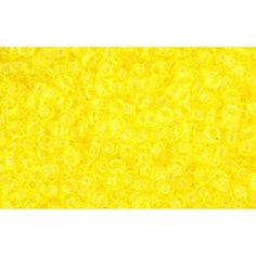 """CC12 - TOHO BEADS 1MM TRANSPARENT LEMON (5g)  TOHO means """"Eastern Treasure"""". Renowned for the consistency in colour and size, Toho seed beads are perfect for bead weaving, bead loom work and bead stringing.  The term """"rocaille"""" originally described a round, silver-lined seed bead with a square hole, but today the term covers all round seed beads with either a round or a square hole. Frequently rocaille seed beads are not perfectly uniform, which adds to their interest and appeal. £0.86"""