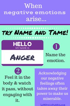 "Dr. Dan Siegel teaches that when we're dealing with powerful emotions, we should ""name it to tame it"" -- it's so powerful, and so simple."
