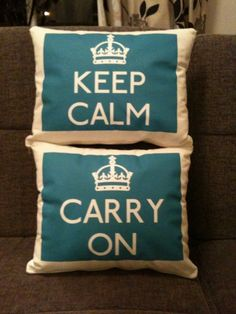 Teal Keep Calm and Carry On Cushion Set - £19.99