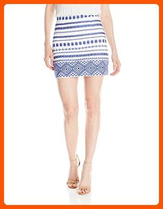Sam Edelman Women's Embroidered Mini Skirt, White, 4 - All about women (*Amazon Partner-Link)