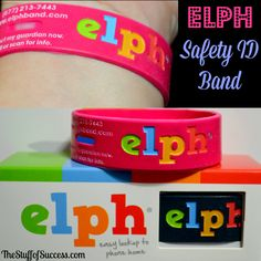 ELPH Safety ID Band for Kids/Teens – Fashionable Peace of Mind