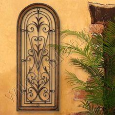 French Tuscan Wrought Iron Gate Wall Art | Wrought iron gates ...