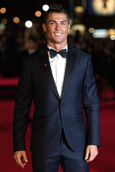 Cristiano Ronaldo Wears Sacoor Brothers Suit at His Movie Premiere | UpscaleHype