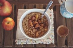 Slow Cooker Apple Spiced Steel Cut Oats Recipe  | G-Free Foodie #GlutenFree