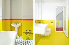 badkamer inrichten felle kleuren