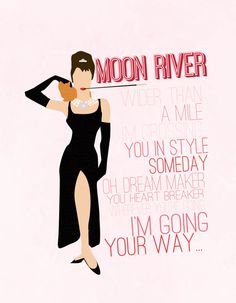 Hey, I found this really awesome Etsy listing at https://www.etsy.com/listing/175196497/moon-river-breakfast-at-tiffanys