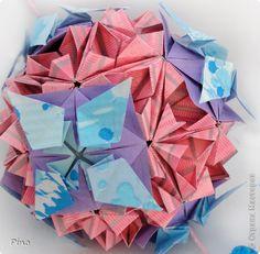Кусудама Мастер-класс Оригами Кусудама Триединство МК Бумага фото 50