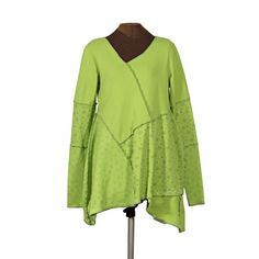 Special Snowflake: green upcycled snowflake tunic from secret lentil