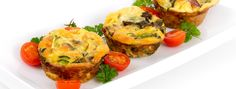 egg muffin cup dinner quiche and omelet style with mushroom and pepper