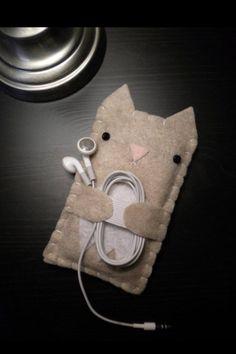 Чехол для iPhone, с отделением для наушников