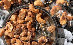 This recipe for ranch-dressing-flavored cashews tosses roasted nuts with a buttermilk, garlic, onion, and chive spice mix for an addictive snack.