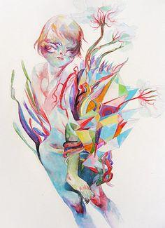 . Illustration Arte, Illustrations, Life Form, Bold Colors, Watercolor Tattoo, Draw, Cool Stuff, Artwork, Image